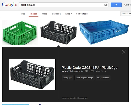 Google Image Search for Plastic Crates
